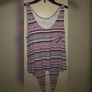 Ann Taylor tank top - tie in front - size small